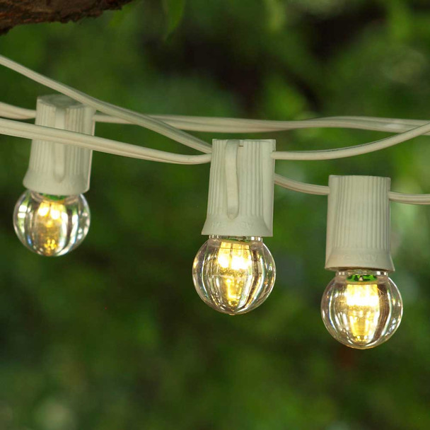 25' White String Lights with C9 LED G30 Bulbs