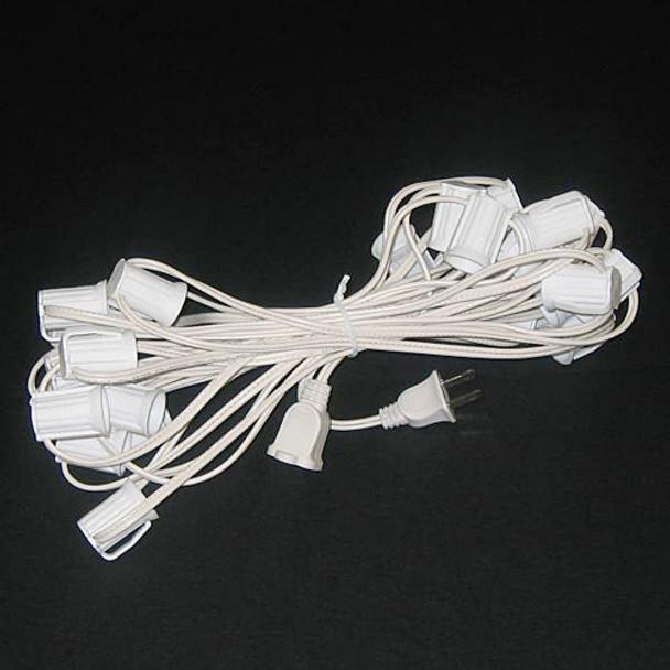 25' C9 String Light Cord, White