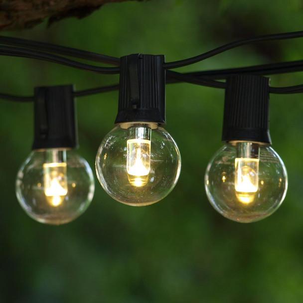 50' Black C9 String Light & LED G40 Professional Bulbs