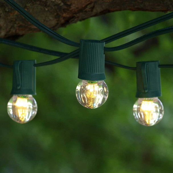 50' Green C9 String Light & LED G30 Bulbs
