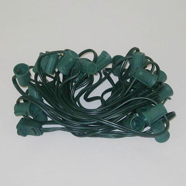 50' Green C9 String Light Cord