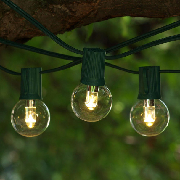 50' Green C9 String Light & LED G40 Professional Bulbs