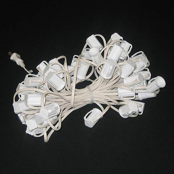 50' White C9 String Light Cord