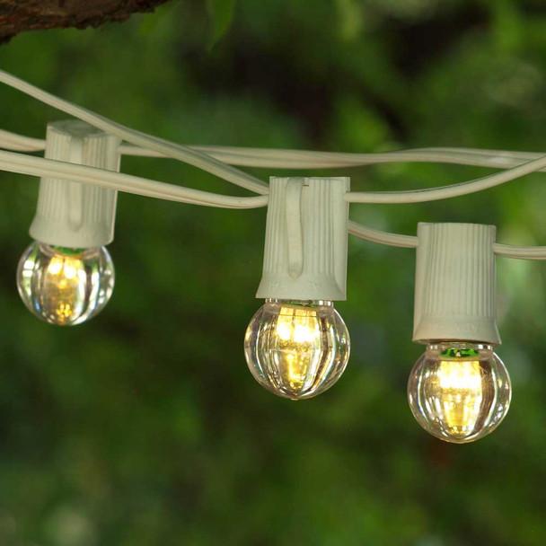 50' White C9 String Light with LED G30 Bulbs