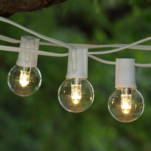 50' White C9 String Light with LED G40 Professional Bulbs