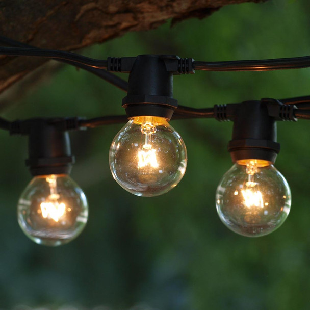 C9 Commercial String Lights with G40 Bulbs