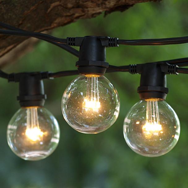 25' Black C9 Commercial Grade String Light with Premium LED G50 Bulbs
