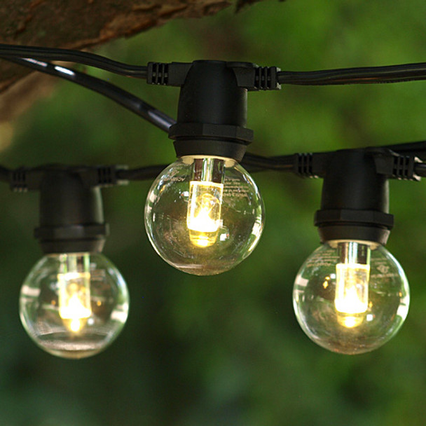 330' Black C9 Commercial Grade String Light with LED G40 Professional Bulbs