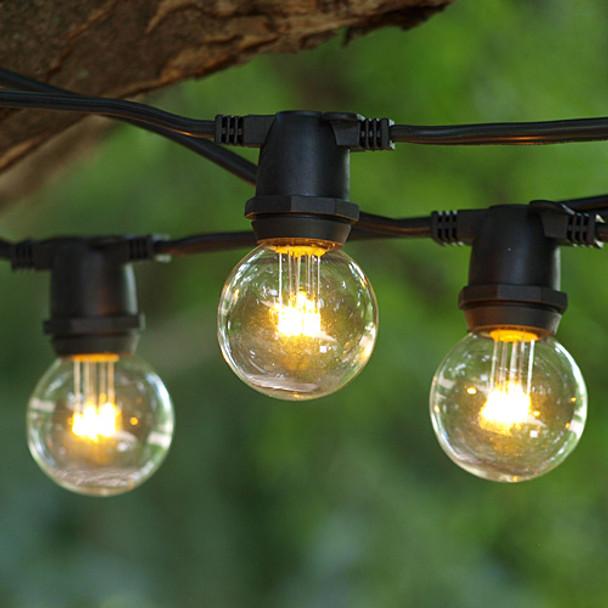 330' Black C9 Commercial Grade String Light with LED G40 Premium Bulbs