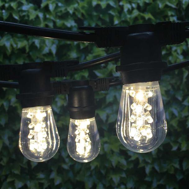 48' Black Outdoor String Light & Professional Premium LED S14 Bulbs