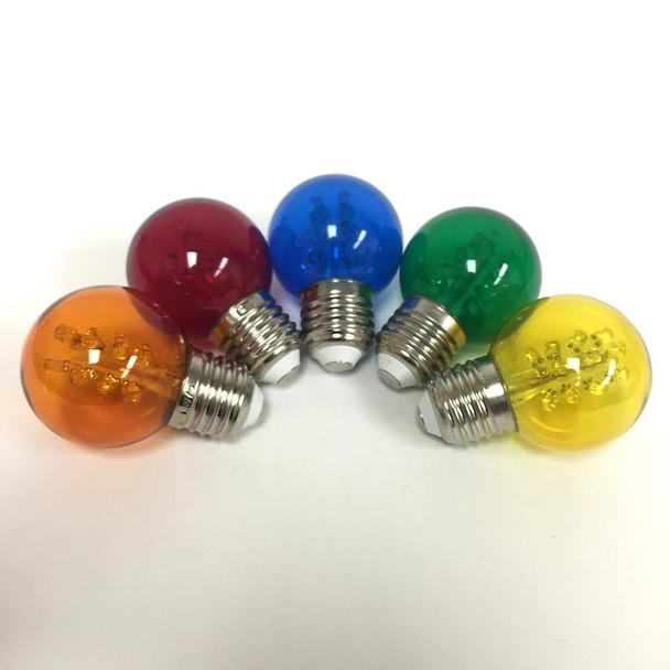 Premium LED G50 Bulbs, Multi Color