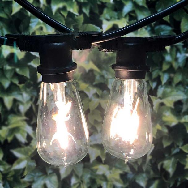 LED Vintage Outdoor String Light & LED ST18 Bulbs