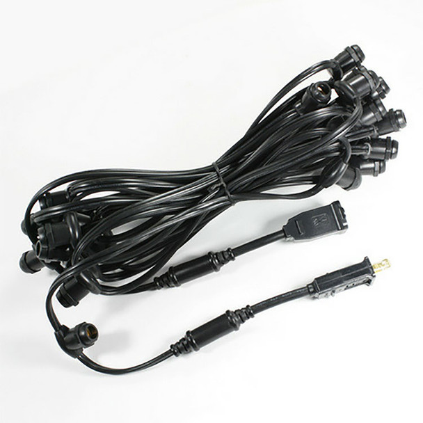 25' Black C7 Commercial String Light Cord