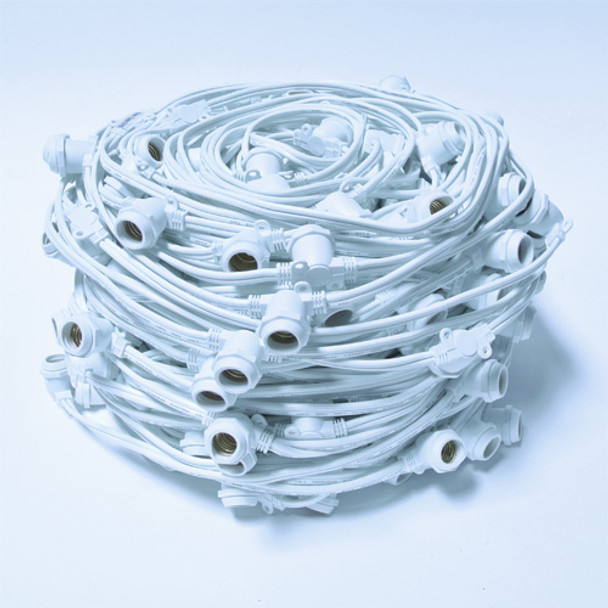 C9 Commercial String Lights - Bulk Reel 330 ft, No Plug, White