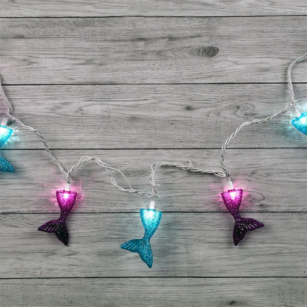 Mermaid Tail Party Lights lit