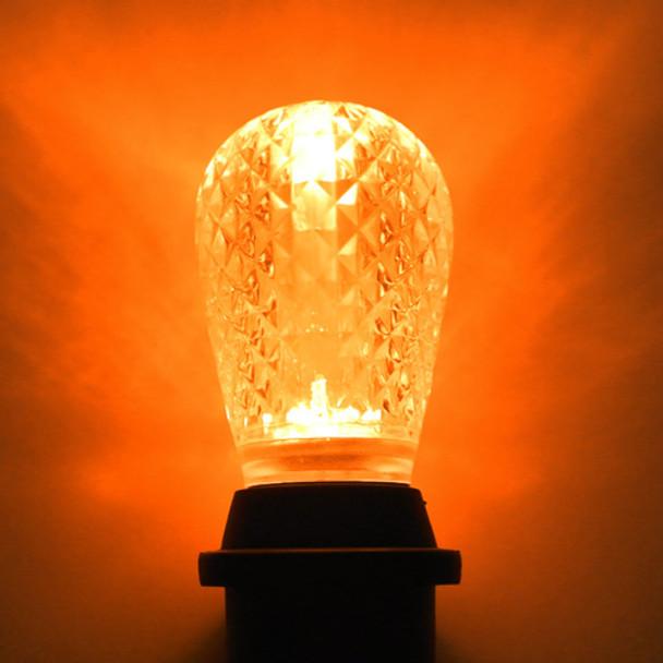 LED S14 Bulb, Amber (orange)