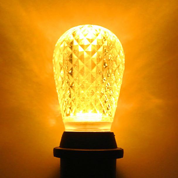 LED S14 Bulb, Yellow