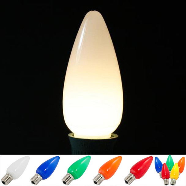 LED C9 Smooth Opaque Bulb - all colors