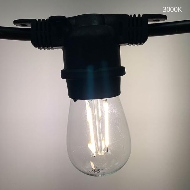 3000K LED S14 Vintage Filament bulb
