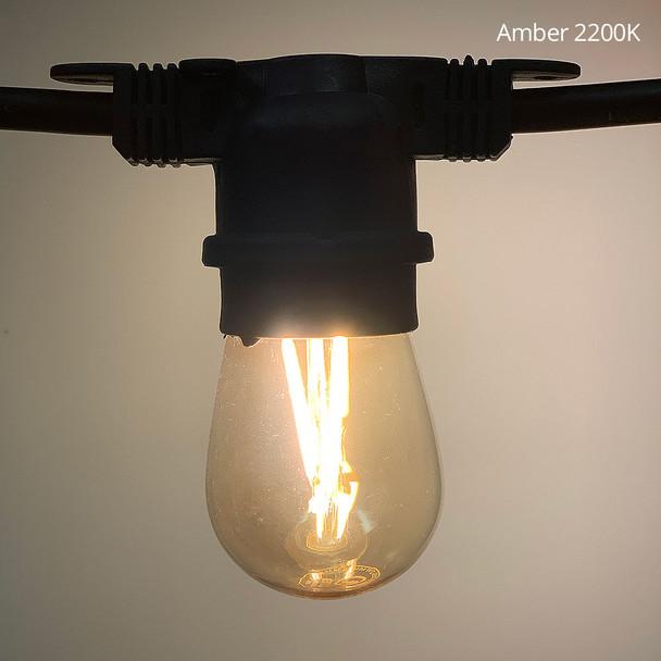 Amber 2200K LED S14 Vintage Filament bulb