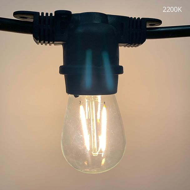 2200K LED S14 Vintage Filament bulb