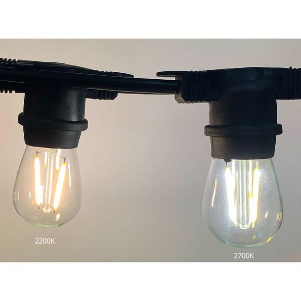 LED S14 Vintage bulb (2200K v 2700K HR)