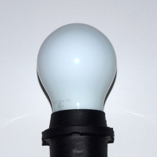 Professional LED A15 Bulb, Opaque Warm White (in socket)