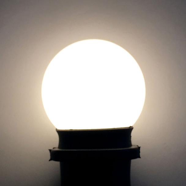 Professional LED G50 Bulb, Plastic, Opaque Warm White
