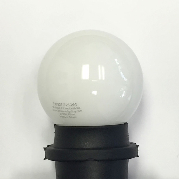 Professional LED G50 Bulb, Plastic, Opaque Warm White (in socket)
