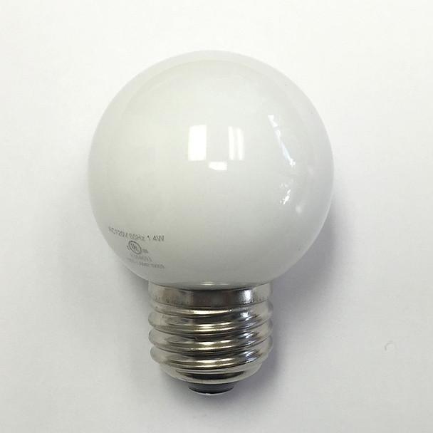 Professional LED G50 Bulb, Plastic, Opaque Warm White (unlit)