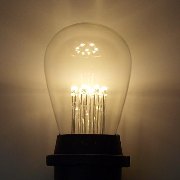 Premium LED S14 Bulb, Warm White, 9 LEDs