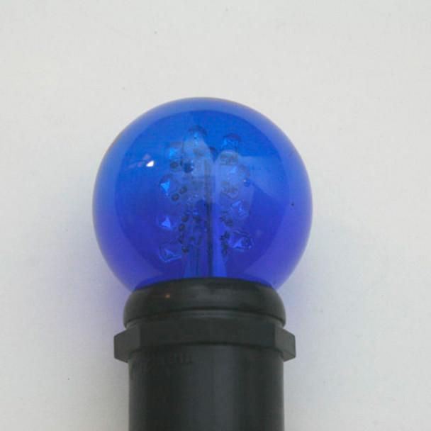 Premium LED G50 Bulb - Blue (in socket)