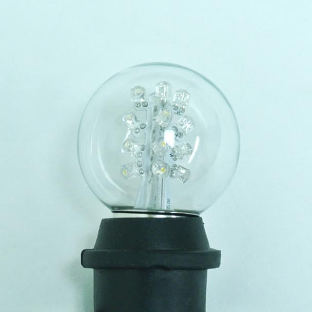 Premium LED G50 Bulb - Cool White (in socket)