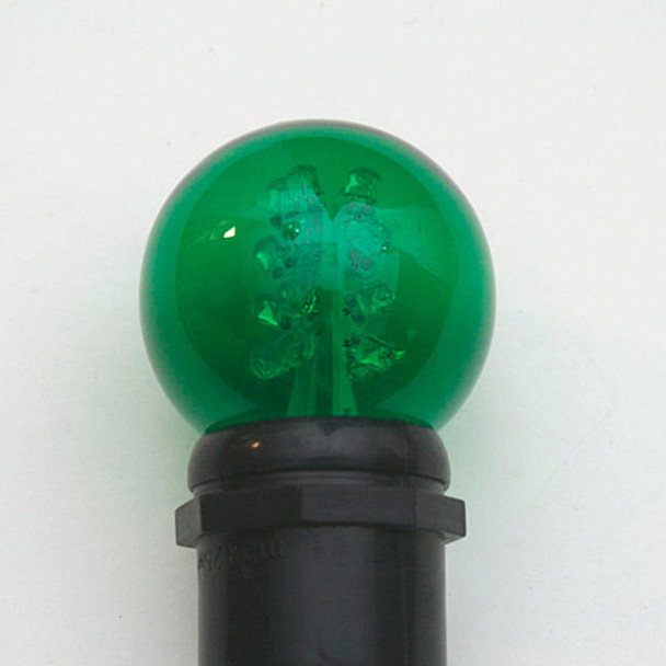 Premium LED G50 Bulb - Green (in socket)