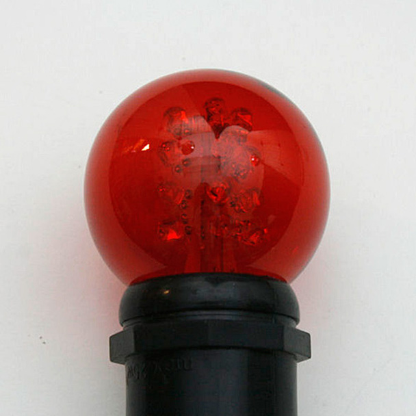 Premium LED G50 Bulb - Red (in socket)