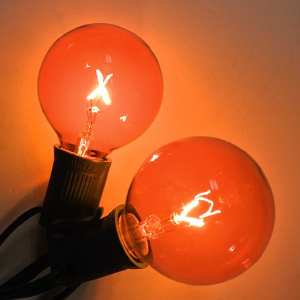 Amber G50 Bulbs (C9 base)