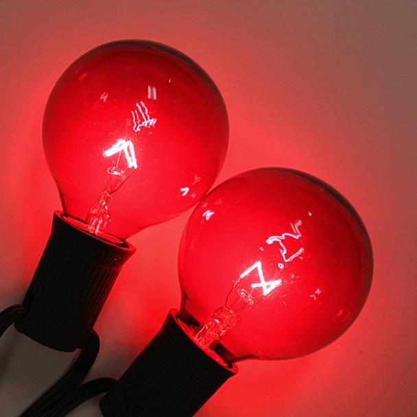 Red G50 Bulbs (C9 base)