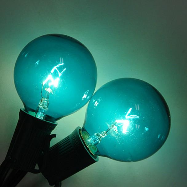 Teal G50 Bulbs (C9 base)