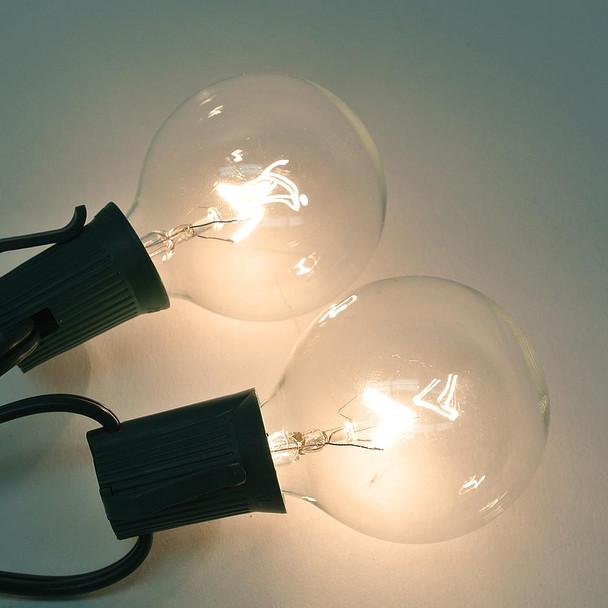 Clear G50 Bulbs (C9 base)