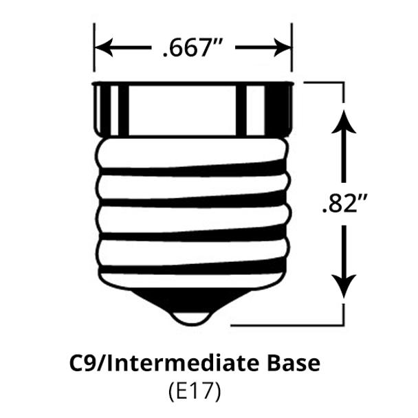 C9 Intermediate E17 Base Size