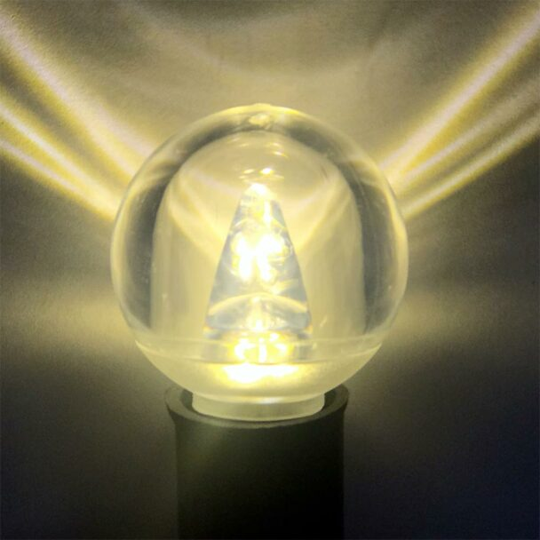 Smooth LED G40 Bulb, warm white, C9 base