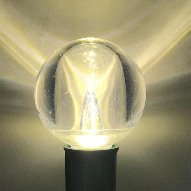 LED G50 Smooth Bulb Lit