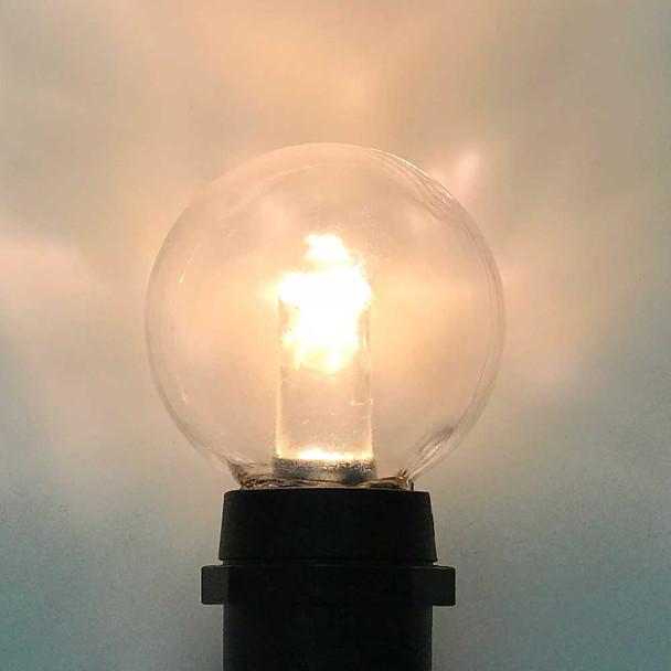 LED G40 Professional Plastic Bulb Lit, C9 Base