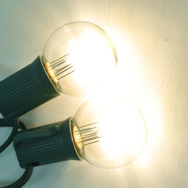 Premium LED G40 Bulb, Warm White, C9 E17 base