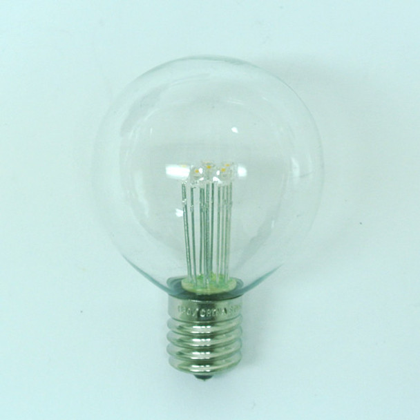 Premium LED G50 Bulb, Warm White, C9 base (unlit)