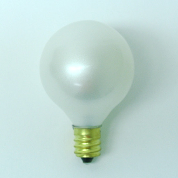 G40 White Satin Bulb - C7 Base unlit