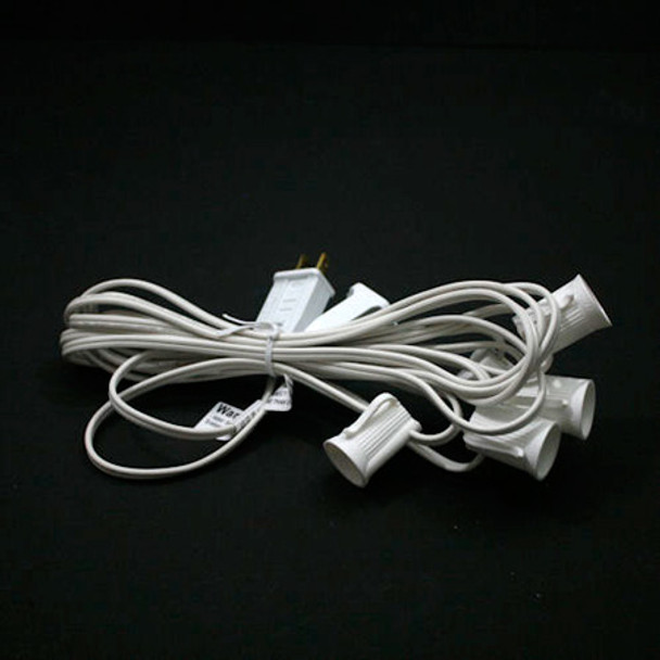 """C9 String Light - 14' White with 36"""" Spacing"""