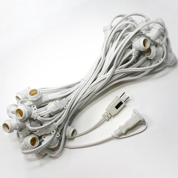 56' White C9 Commercial String Light Cord