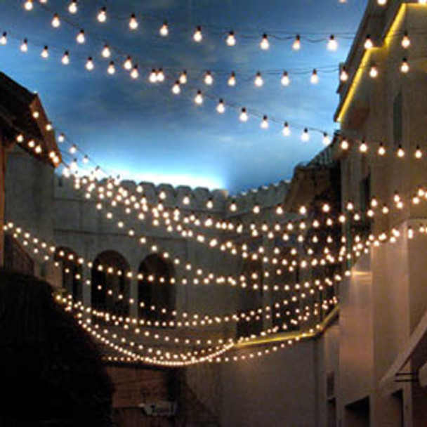 Black C9 Commercial String Light Cord feature