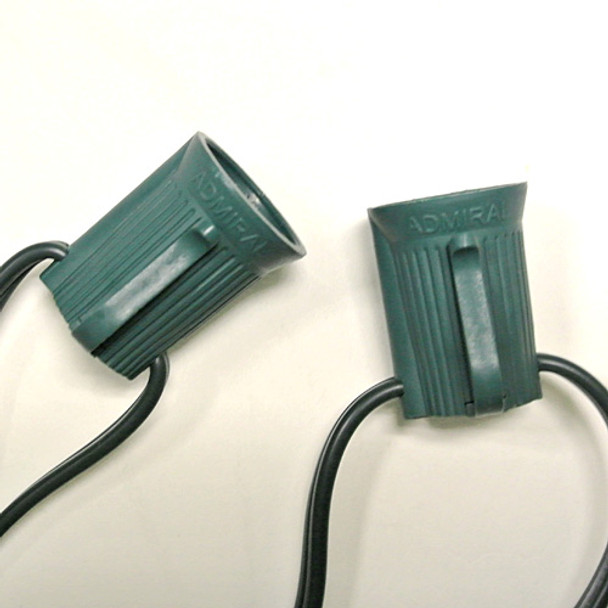 "C9 Custom Length String Light - 48"" spacing Green"